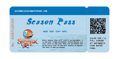 Shipwreck Cove Water Park | Season Passes | Purchase your Season